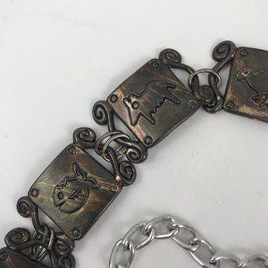 Vintage Omega Antique Brass Belt Chain Link